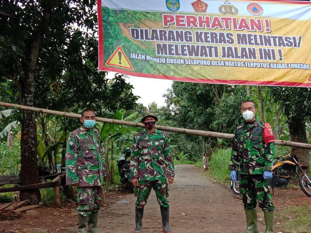 Tanah Retak Ancam 48 KK di Nganjuk Dekat Lokasi Longsor yang Renggut 19 Jiwa