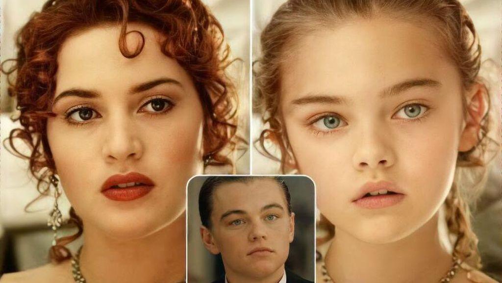 12 Foto Anak Hasil Rekayasa AI dari Pasangan Film Legendaris