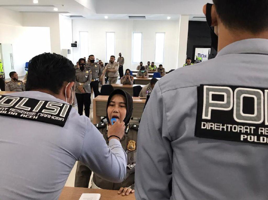50 Personel Ditlantas Polda Aceh Dites Narkoba Pakai Liur, Apa Hasilnya?