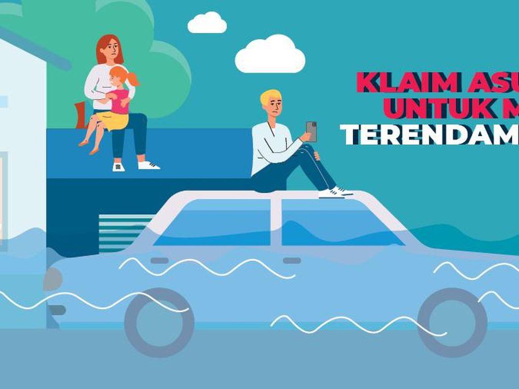 Klaim Asuransi untuk Mobil Terendam Banjir