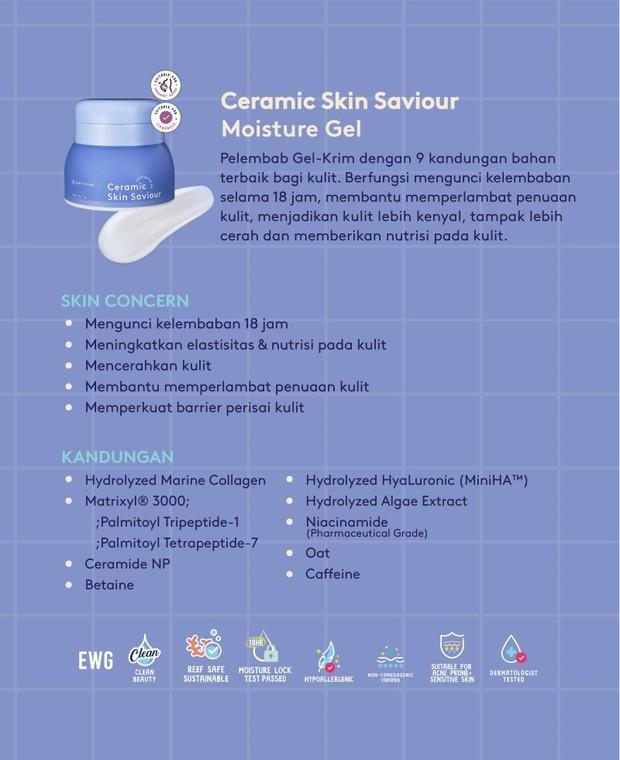 Klaim Produk Ceramic Skin Saviour Moisturizer Gel