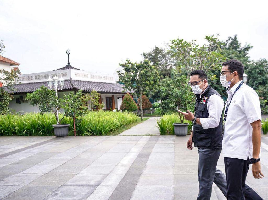 Sandiaga Temui Ridwan Kamil, Bahas Pembangunan KEK Lido