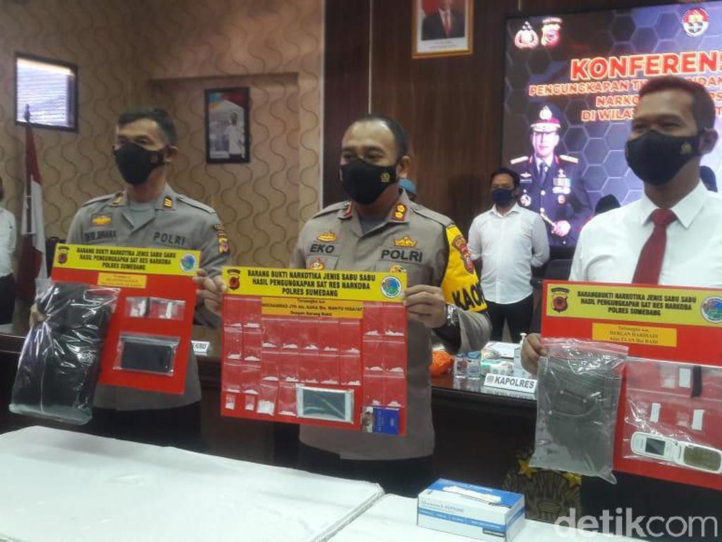 Polisi Tangkap Tiga Kurir Narkoba di Sumedang, 31 Paket Sabu Disita