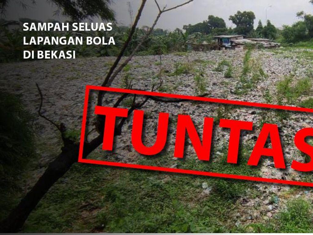 Sampah Selapangan Bola Tuntas Ditutup Tanah, Ini Before-after Kondisinya
