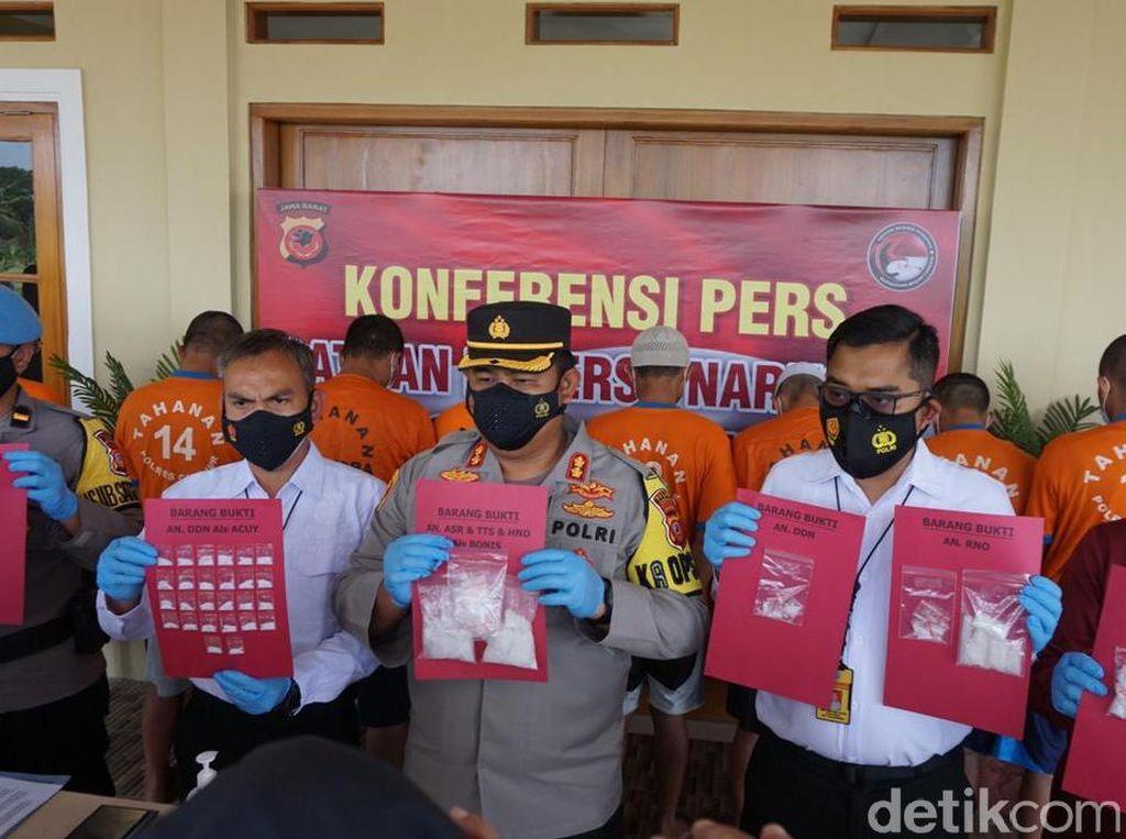 Polisi Tangkap 9 Bandar Narkoba di Cianjur, 257 Gram Sabu Disita