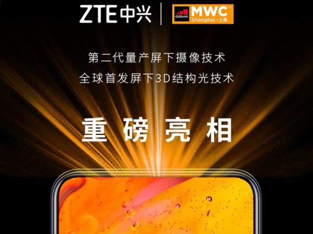 ZTE Akan Pamer Kamera Bawah Layar Terbaru di MWC Shanghai 2021
