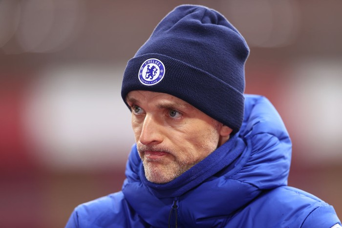 SOUTHAMPTON, ENGLAND - FEBRUARY 20: Thomas Tuchel, Manager of Chelsea is interviewed following the Premier League match between Southampton and Chelsea at St Marys Stadium on February 20, 2021 in Southampton, England. Sporting stadiums around the UK remain under strict restrictions due to the Coronavirus Pandemic as Government social distancing laws prohibit fans inside venues resulting in games being played behind closed doors. (Photo by Michael Steele/Getty Images)