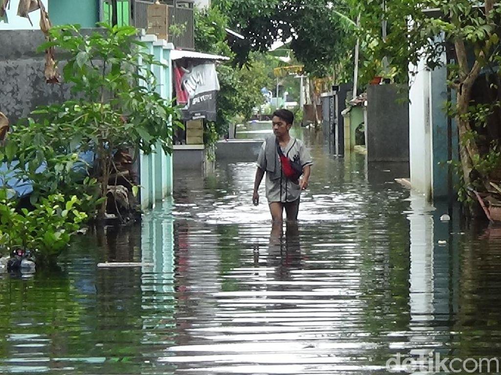 10 Kelurahan di Kudus Ini Sudah Tergenang Banjir Selama 3 Pekan