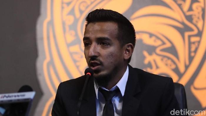 Manajer Borneo FC, Farid Abubakar, di Stadion Segiri, Samarinda.