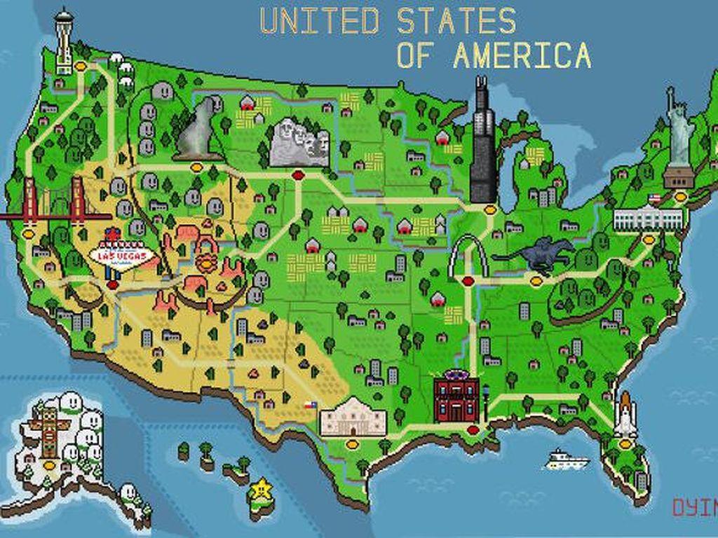 Foto: Peta yang Tidak Bikin Bosan