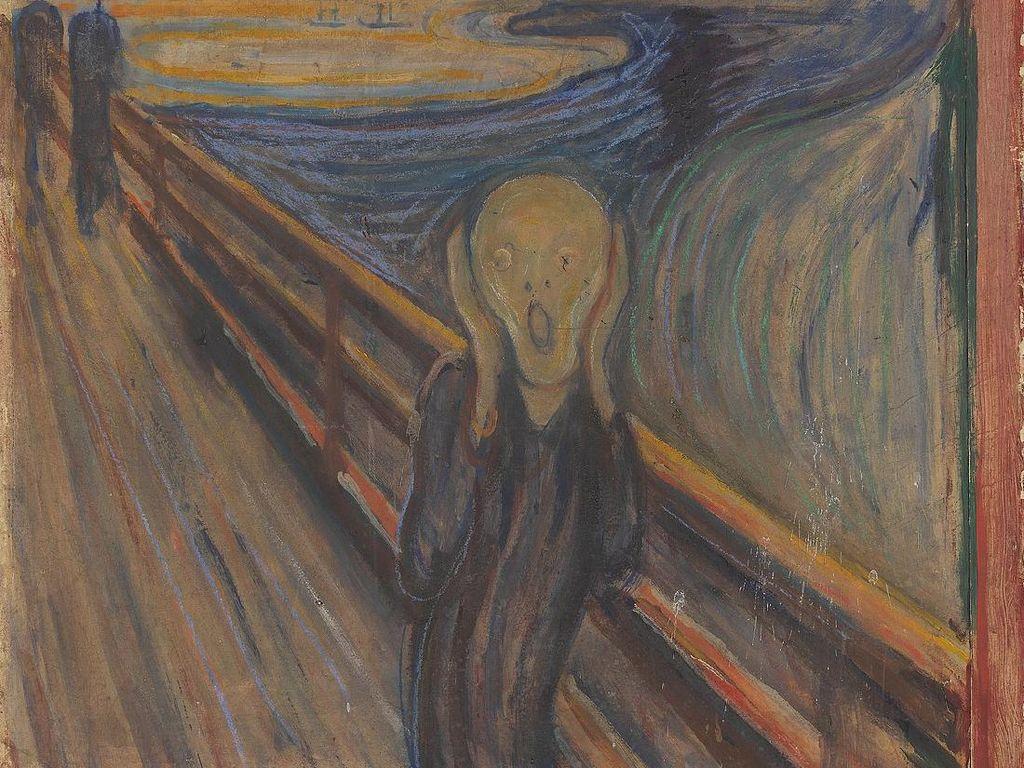Misteri Tulisan di Ujung Kanvas Lukisan Edvard Munch Tahun 1893