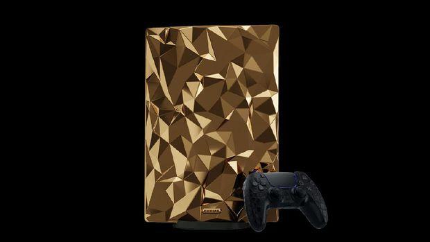 Playstation 5 PS5 lapis emas buatan perusahaan Rusia Caviar