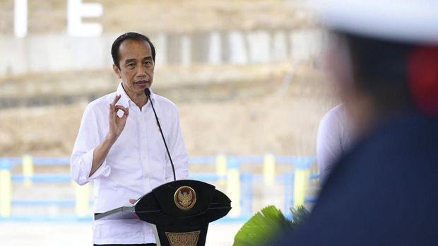 Presiden Jokowi resmikan bendungan Napun Gete NTT.