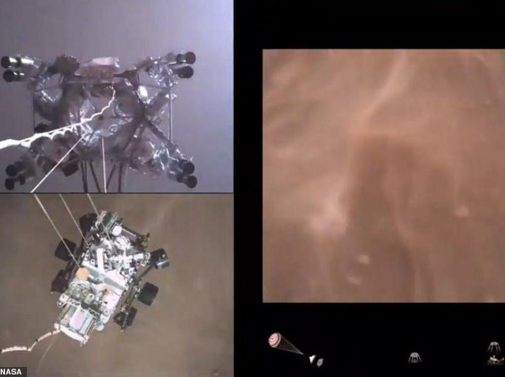 Mengagumkan, Video Detik-detik Robot NASA Mendarat di Mars