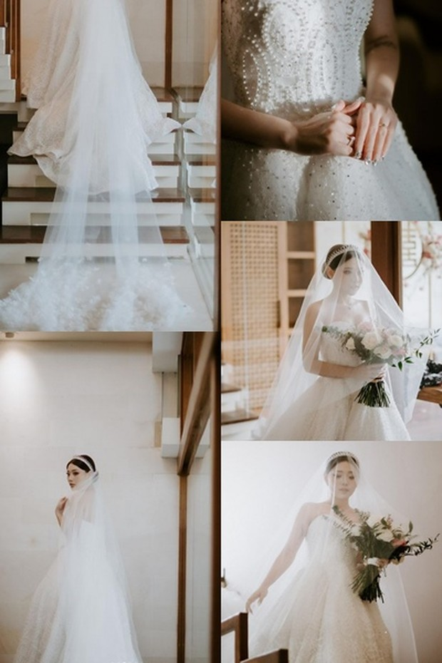 wedding dress and makeup wendy