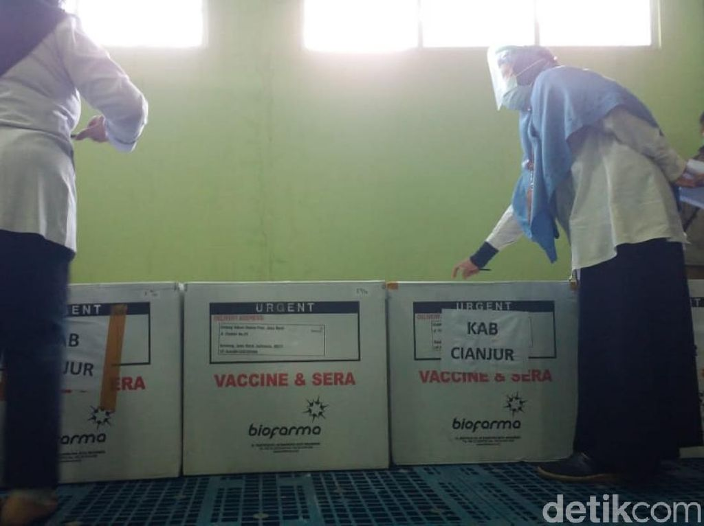 30 Ribu Dosis Vaksin COVID-19 Tahap 2 Tiba di Cianjur, Ini Sasarannya