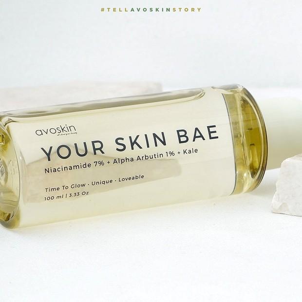Avoskin Your Skin Bae Niacinamide 7% + Alpha Arbutin 1% + Kale Toner/instagram.com/avoskinbeauty
