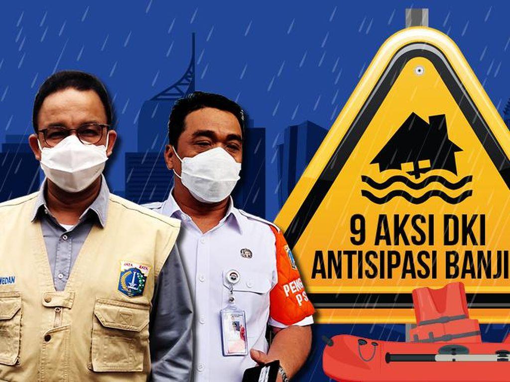 9 Aksi Pemprov DKI Bikin Banjir Cepat Surut
