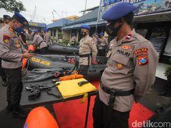 Puluhan Personel Ditpolairud Polda Jatim Siap Respon Cepat Penanggulangan Bencana