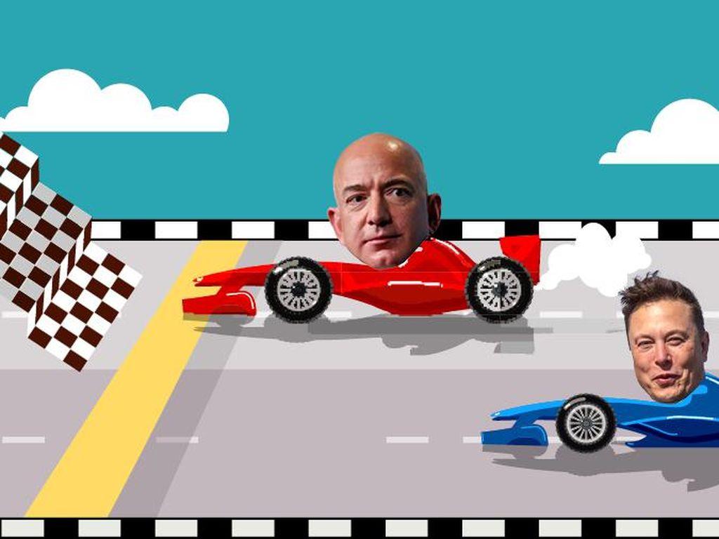 Elon Musk Disalip Jeff Bezos