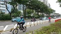 ITDP Nilai Polisi Harus Tegakkan Aturan Bukan Bongkar Jalur Sepeda Permanen