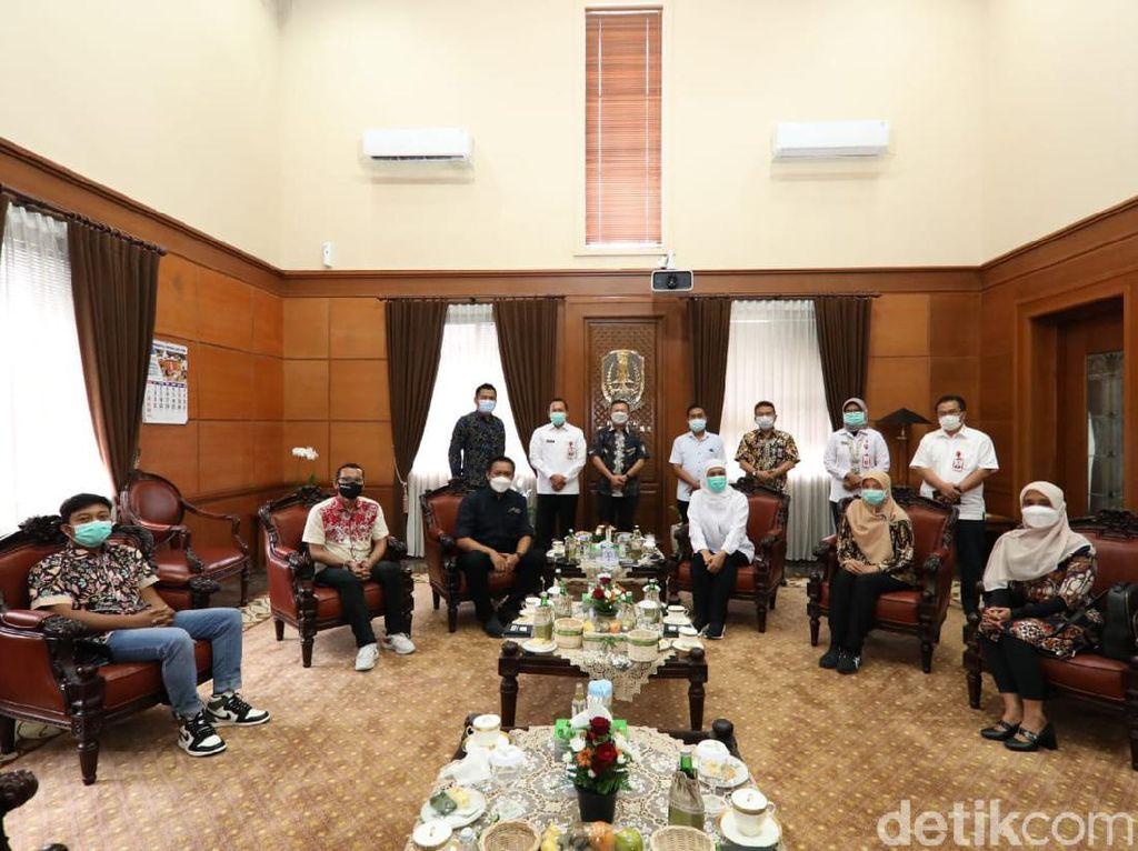 Jelang Pelantikan Pengurus Baru, Gubernur Khofifah Terima Audiensi AMSI Jatim