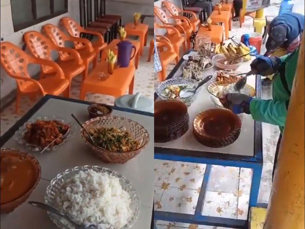 Keren! Keluarga Ini Buka Dapur Umum dengan Menu Prasmanan Gratis