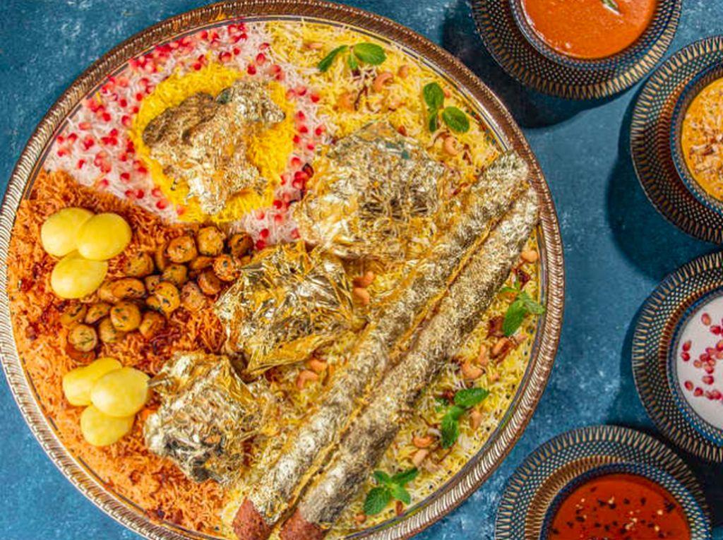 Nasi Biryani Termahal di Dunia Diracik Pakai Emas, Harganya Rp 3,9 Juta!
