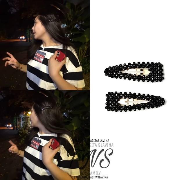 Pack hair clips warna hitam dari brand HM/instagram.com/fashion_nagitaslavina