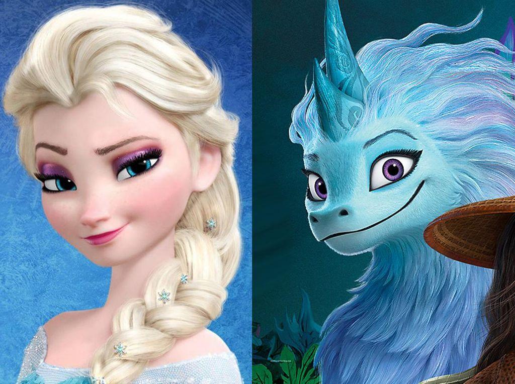 Senyum Naga Sisu Dibilang Mirip Elsa Frozen, Awkwafina Teriak