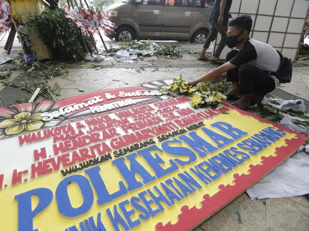 Jelang Pelantikan Hendi-Ita, Pedagang Bunga Semarang Banjir Orderan