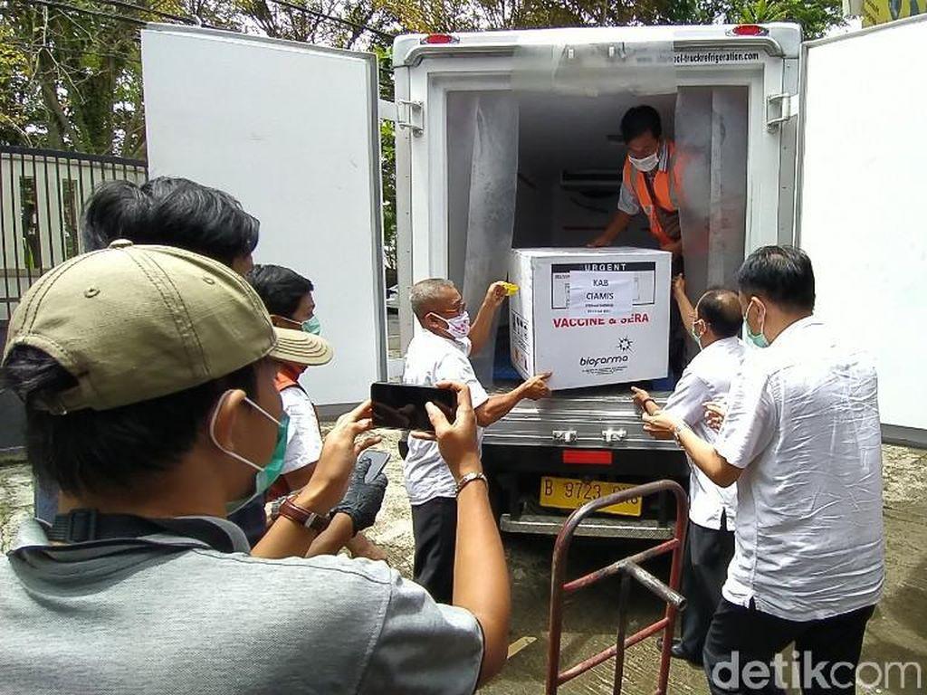 17.300 Vaksin Corona Tahap 2 Tiba di Ciamis, Prioritas untuk TNI-Polri