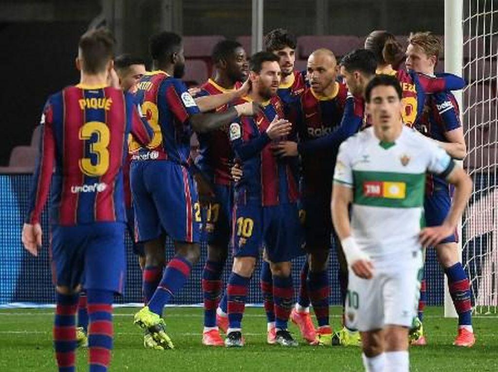 36-0, Dominasi Barcelona atas Elche Kian Luar Biasa