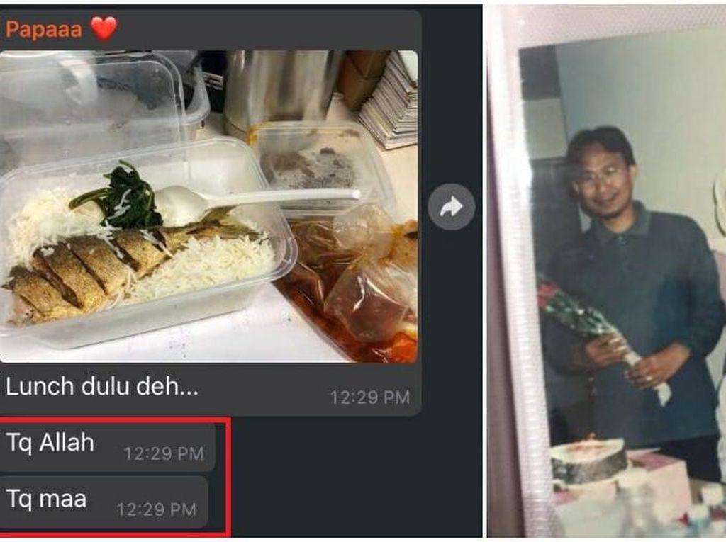 So Sweet! Suami Selalu Berterima Kasih pada Istri Tiap Kali Dibekali Makanan