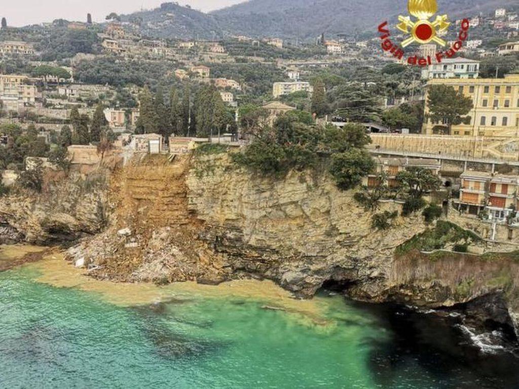 Longsor di Kompleks Makam Italia, Ratusan Peti Jenazah Berjatuhan ke Laut