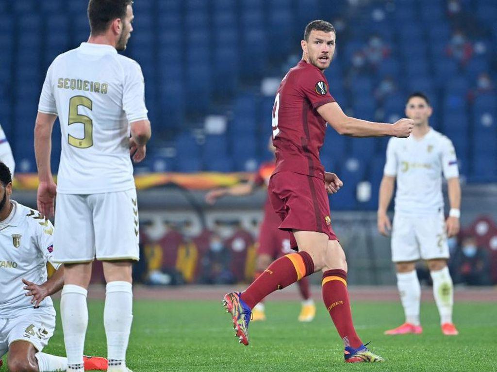 Roma Vs Braga: Dzeko Lewati Rekor Totti