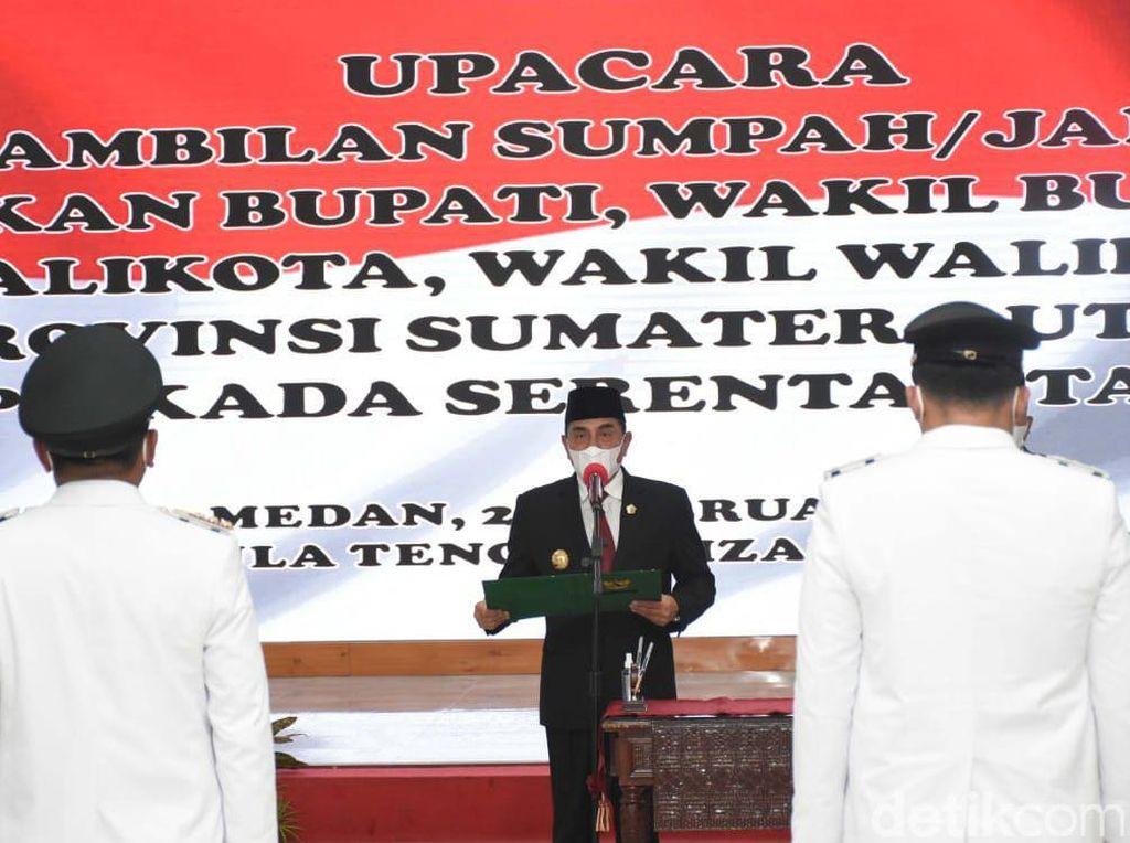 Momen Gubsu Edy Lantik Kepala Daerah di Sumut, Termasuk Bobby Nasution