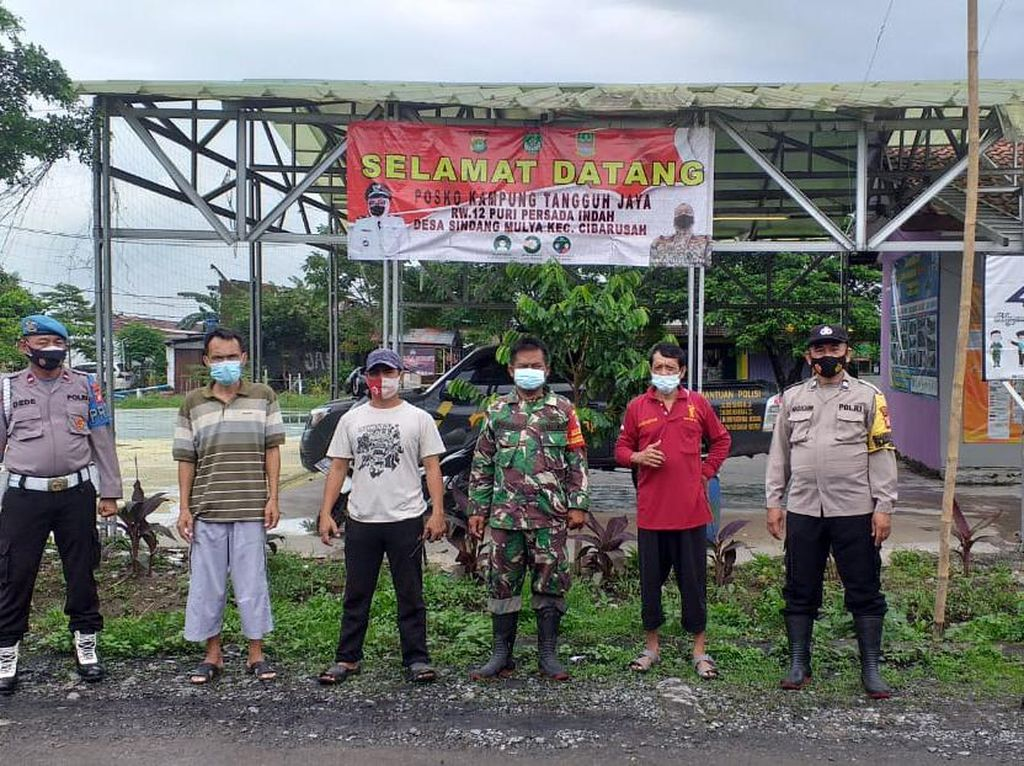 Semangat Kampung Tangguh Jaya di Cibarusah Perketat Prokes Cegah COVID