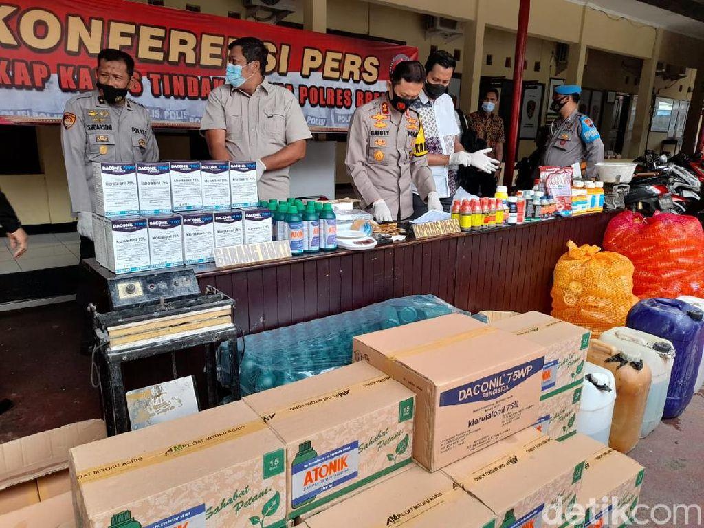Praktik Pembuatan Pestisida Palsu di Brebes Terbongkar