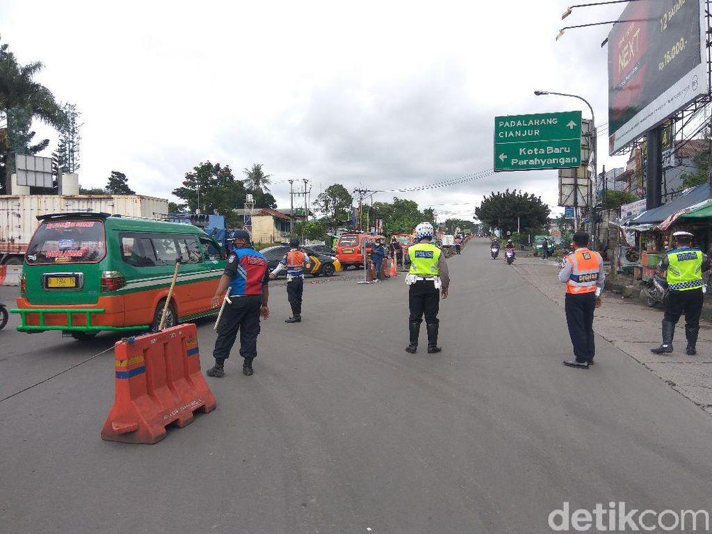 Polisi-Dishub Bandung Barat Rekayasa Lalin di Padalarang, Begini Rutenya