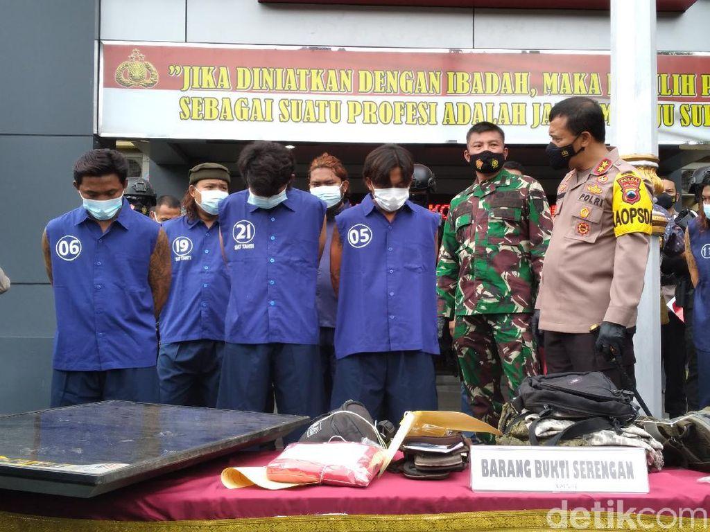 Polisi Solo Tangkap 9 Pelaku Premanisme Bersamurai, 10 Orang Buron