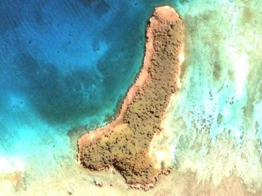Jalan-jalan di Google Earth, Eh Malah Ketemu Pulau Penis