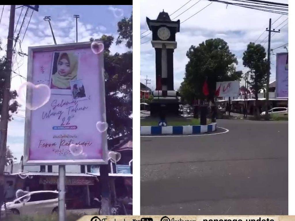 Viral Baliho Ucapan Ulang Tahun di Ponorogo