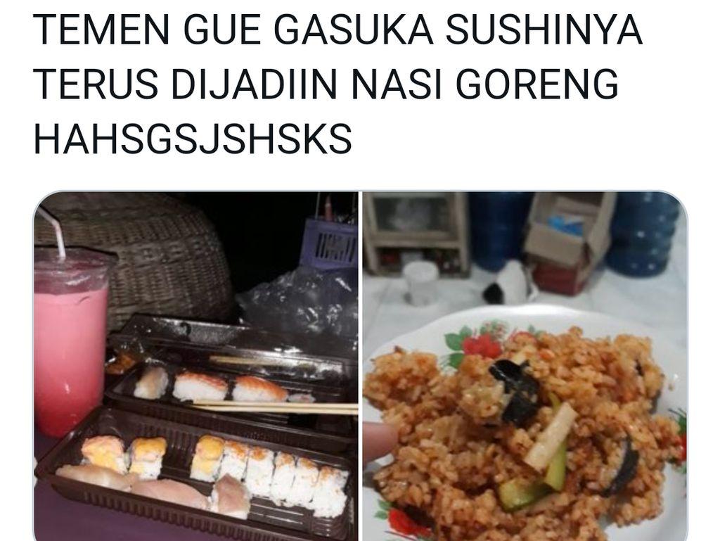 Kocak! Netizen Ini Masak Sushi Jadi Nasi Goreng karena Tak Doyan