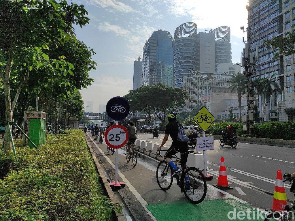 Jalur Sepeda Sudirman-Thamrin Maksimal 25 Km/Jam, Road Bike Kencang Lewat Mana?