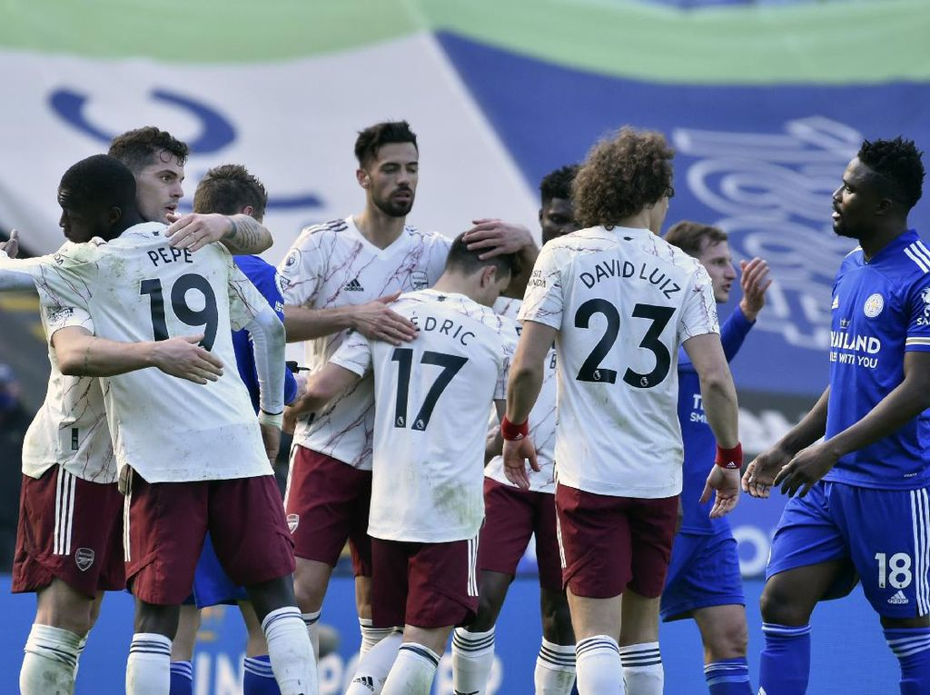 8 Data-Fakta Kemenangan Arsenal atas Leicester