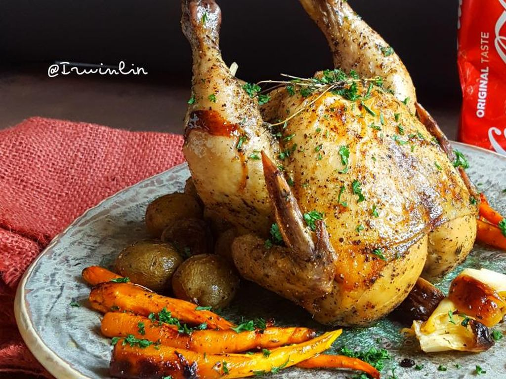 Resep Pembaca : Ayam Panggang Saus Veloute Cola yang Empuk Juicy