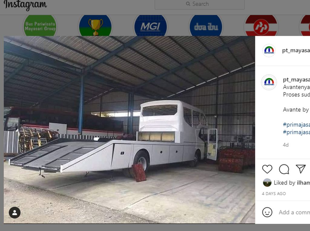Ketika Bus Dimodifikasi Jadi Mobil Towing