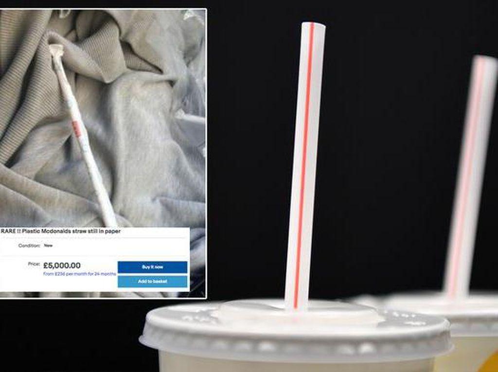 Gokil! Sedotan Plastik McD Ini Dijual Rp 99 Juta di Internet