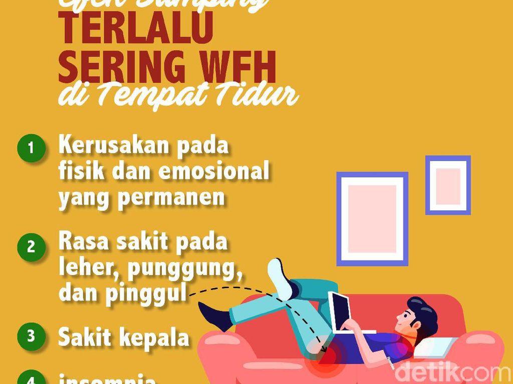 4 Keluhan Jika Keseringan WFH di Tempat Tidur